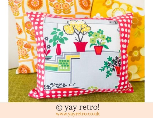 0: 1950s Houseplants Fabric Cushion (£14.00)